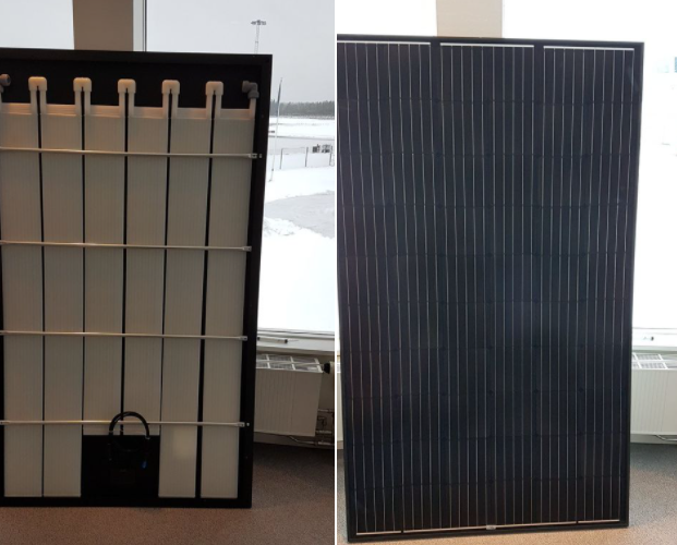 Solarpanels with cooling panels